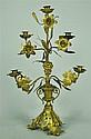Brass Five-Branch Candlelabrum