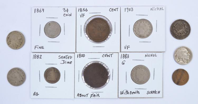 Group of Obsolete U.S. Coins