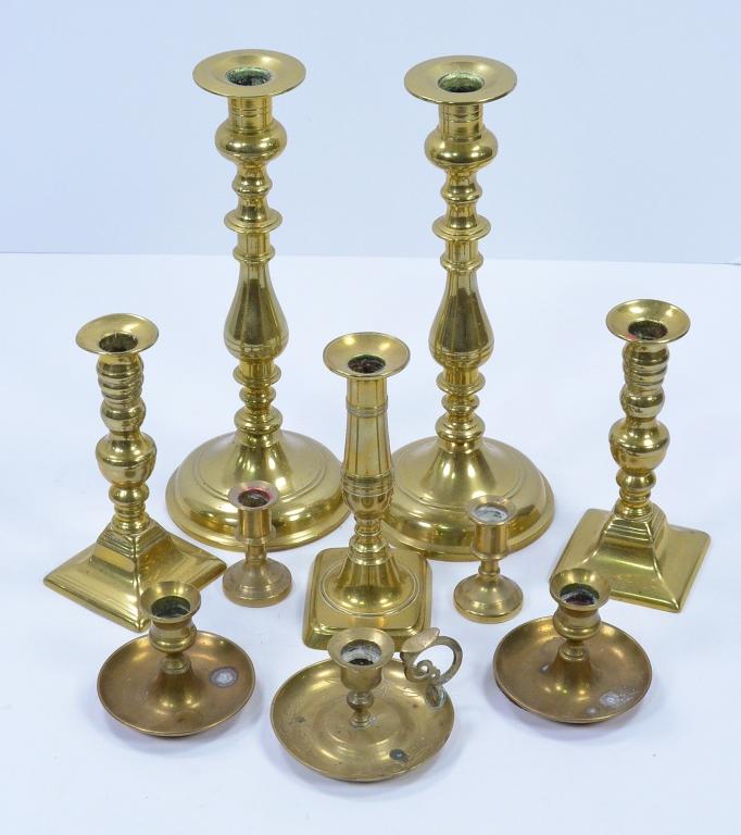 Bx Ten Brass Candlesticks