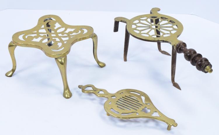 Three Brass Trivets