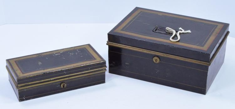 Bx Two Tin Strong Boxes