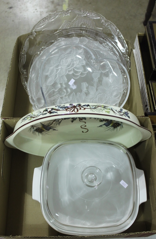 Two Bxs Cookware & Platters