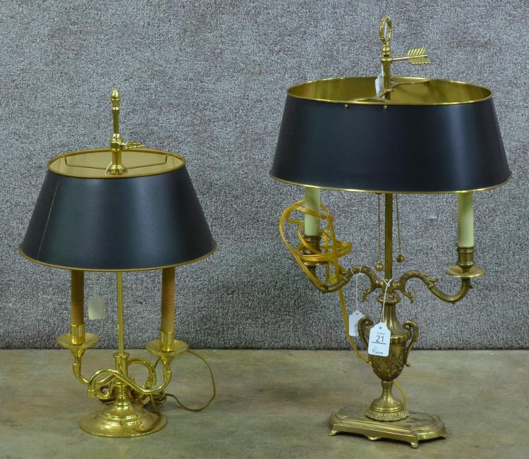 Two Brass Table Lamps