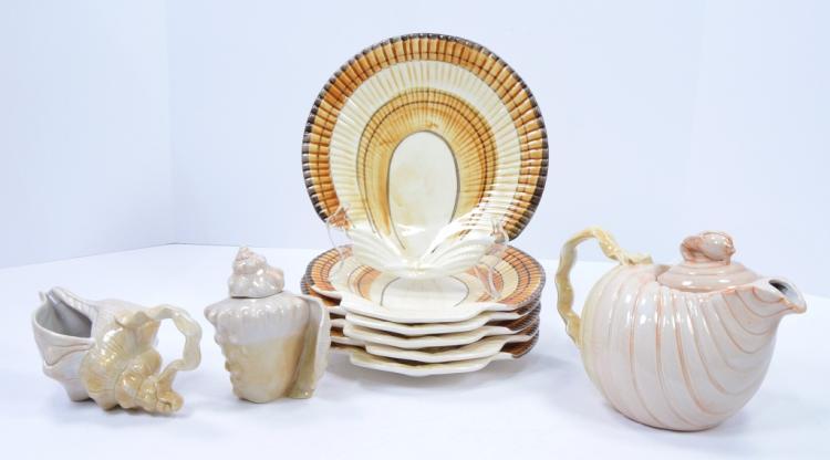 Shell-Shaped Tea Set