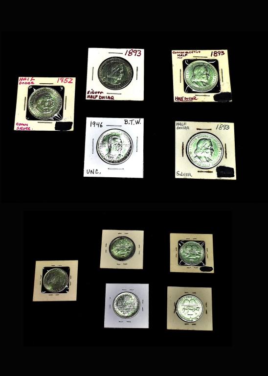Five Commemorative Half Dollars