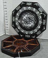 Lacquer and Inlaid Mother of Pearl Storage Box