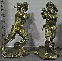 Bx Two Spelter Figures