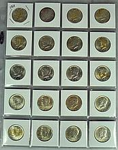 Group of 20 (roll count) 1964 Kennedy Half Dollars