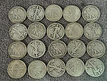 Roll of Circulated Walking Liberty Halves