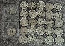 27 Standing Liberty Quarters