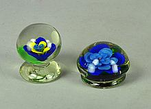 Two Glass Paperweights