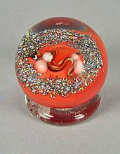 Roger Hamon Paperweight with Snake