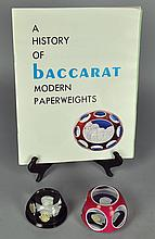 Two Baccarat Sulfide Paperweights with JFK