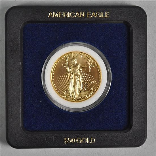 Lovely $50 Gold American Eagle Coin (1 Ounce Fine .999) in BU Grade