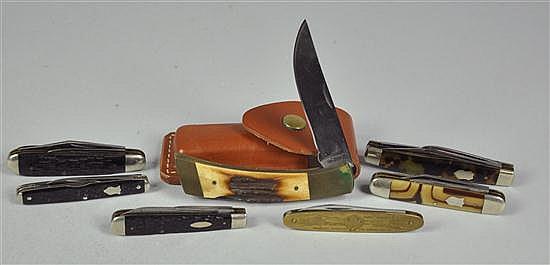 Seven Folding Knives