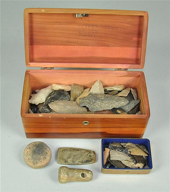 Game Stone, Pendant, & Pipe Bowl