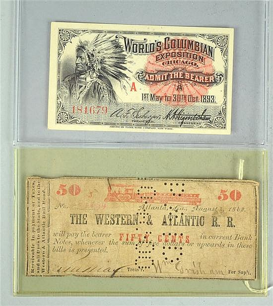 World's Columbian Exposition (Chicago) Ticket for Admission