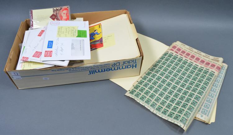 Bx British, Canadian & German Stamps