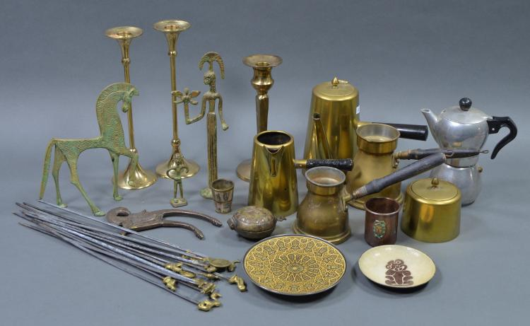 Two Bxs Brass and Metalware