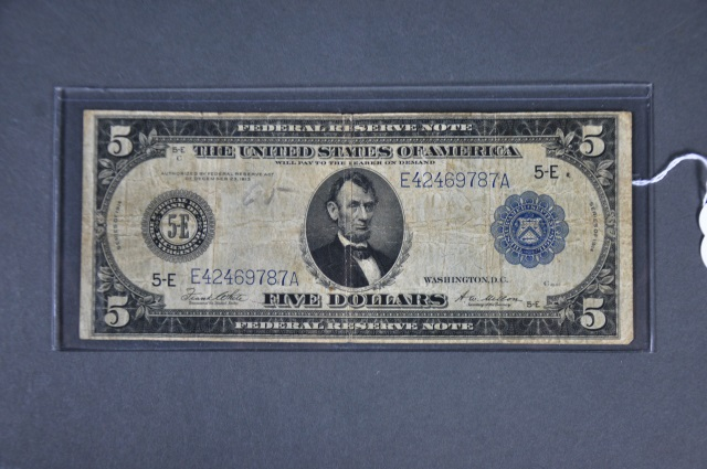 1914 Series $5.00 Federal Reserve Note