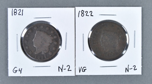 Two Coronet Head Cents