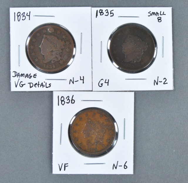 Three Large Cents