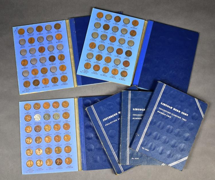 Group of Whitman Blue Folders