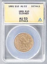 1881 Liberty $10 Gold Coin