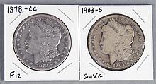 Two Scarce Morgan Dollars