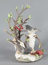 Boehm Porcelain Junco with Pyracantha