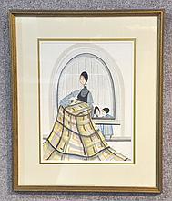 Original P. Buckley Moss Watercolor