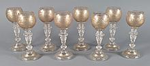 Set of Eight Moser Roemer Wine Goblets