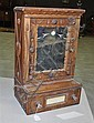Great Chip Carved Tramp Art Medicine Cabinet