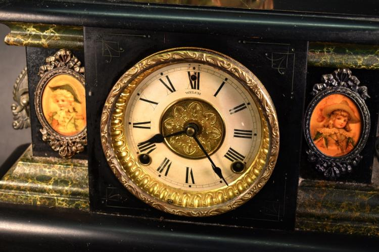 Welch Wood Case Mantel Clock