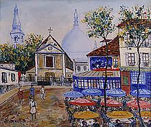 Elisée Maclet (1881-1962)  La place du Tertre à Montmartre