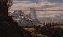 Alexandre Gabriel Decamps (1803-1860)  La Chute des murs de Jéricho