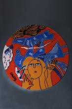 Corneille (1922-2010) Les Oiseaux bleus