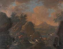 École hollandaise de la seconde moitié du XVIIIe siècle Paysage aux vaches