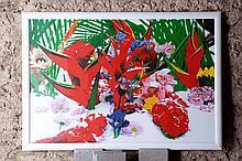 Marc QUINN (né en 1964)  Winter garden 4/Heliconia 39/59    Impression pigmentaire signée au dos