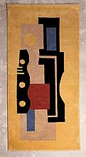 Fernand LÉGER (1881-1955) d'après  Tapis jaune N° 9  circa 1980  Tapis en laine et point noué d'après un carton de Fernand Léger