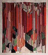 Frantisek KUPKA (1871-1957) d'après  Étude pour le langage des verticales    Tapisserie en laine