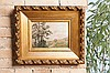 Louis-Hilaire CARRAND (1821-1899)  Paysage    Huile sur toile contrecollée sur carton signée en bas à droite