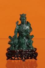 Statuette en malachite sculptée