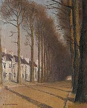 Pierre Ladureau (1882-1975) Chemin de forêt