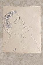 Andy Warhol (1928-1987) Portrait d'homme circa 1955