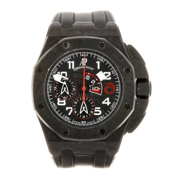 (92504) A forged carbon automatic gentleman's Audemars Piguet Royal Oak Offshore wrist watch.