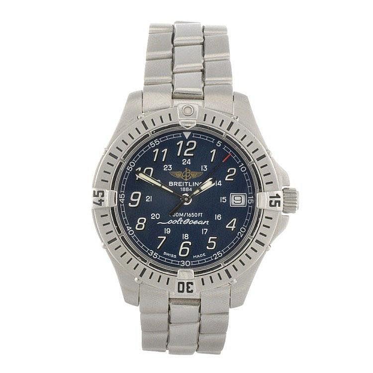 A stainless steel quartz gentleman's Breitling Aeromarine Colt bracelet watch.
