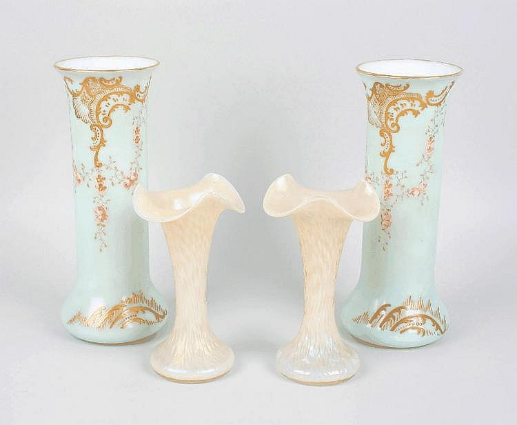 Four items of glassware