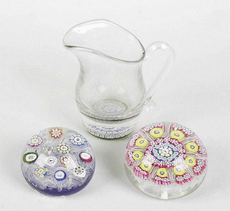 Three paperweights to include two Perthshire 1974 examples