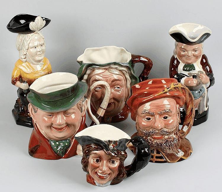 Five Beswick character jugs.